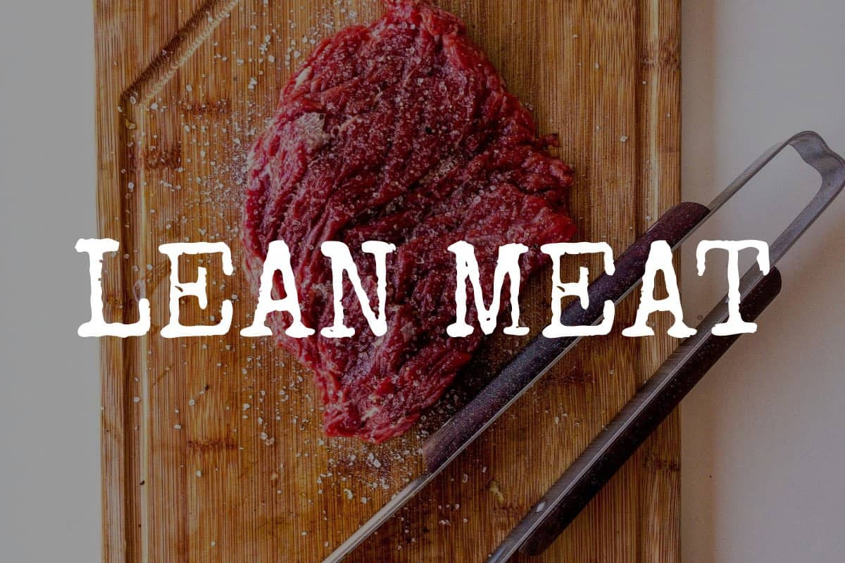 ask the butcher lean meat